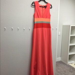 Bcbg Maxi Dress size 8 Salmon Peach Color